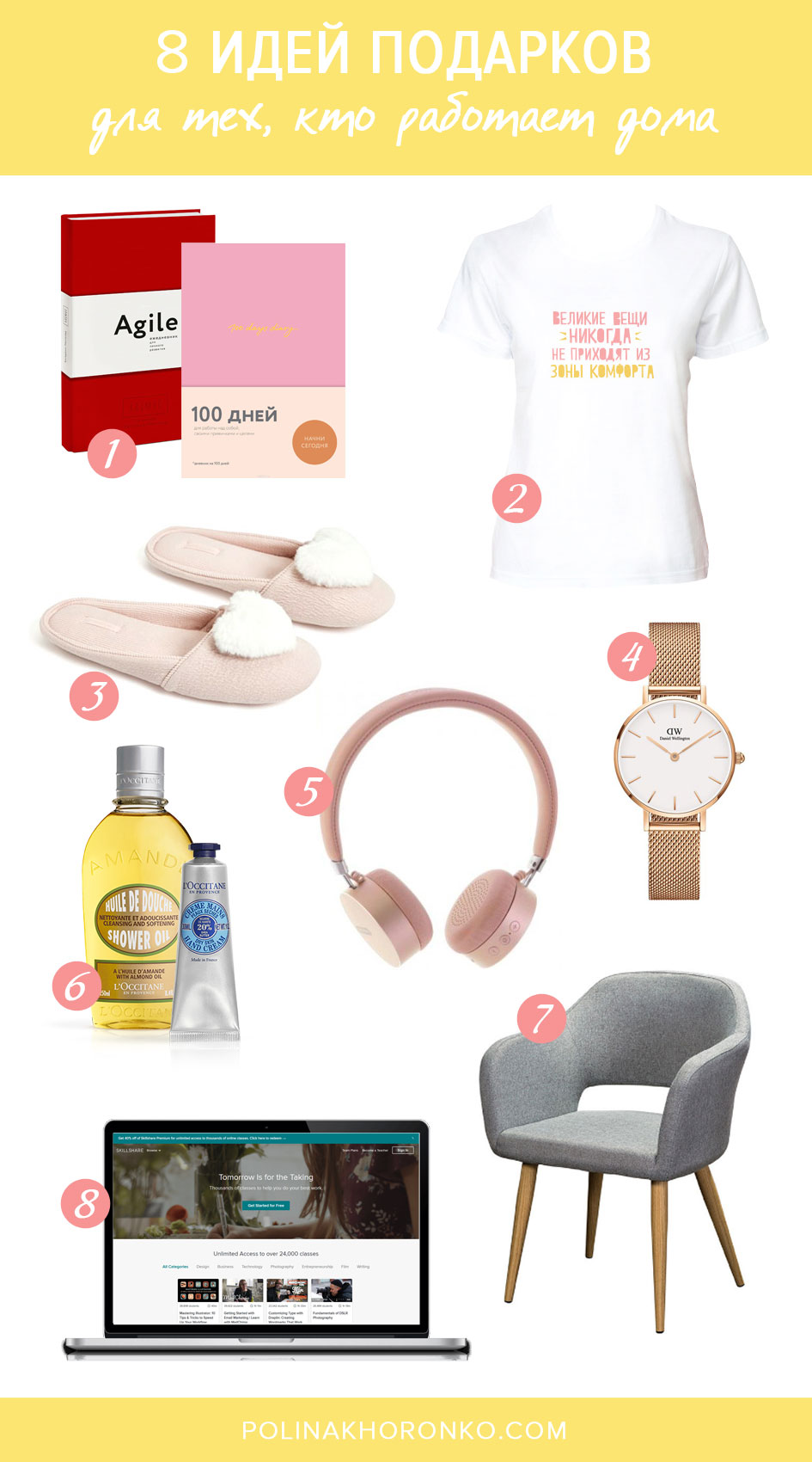 8 идей подарков для тех, кто работает дома / Блог Полины Хоронько